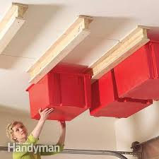 Ceiling Material For Garage by 11 Easy Garage Space Saving Ideas Garage Ceiling Storage Garage