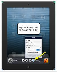 AirPlay Mirroring from iPad iPhone iOS6