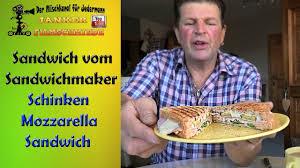 sandwich mozzarella schinken mit rucola im sandwichmaker tefal