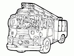 Online Fire Truck Coloring Page - A-k-b.info