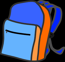 Blue Lunch Box Clipart Beautiful Backpack Png Transparent Group 72