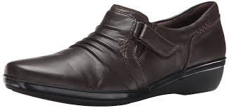 Womens Work And Safety Shoes by Amazon Com Clarks Women U0027s Everlay Coda Flat Oxfords