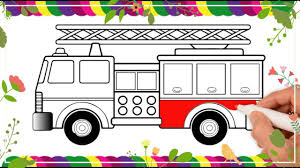 100 How To Draw A Fire Truck For Kids To Brigade Childrens Nimation Show