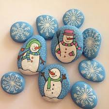 Paint Your Stones Yourself Making Christmas Decorations