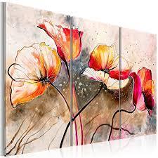 dekoration leinwand deko bild blumen wandbilder