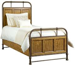 twin metal and wood bedstead by broyhill furniture wolf and