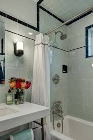two bathrooms with bold tile wall colors 1930s bathroom and