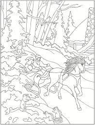 Creative Haven Winter Scenes Coloring Book Dover Publications