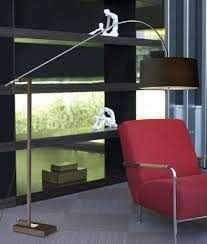 Contemporary Multi Shade Chrome Arm Floor Lamp by Adjustable Contemporary Floor Lamp With Shade