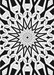 Creative Haven Infinite Illusions Coloring Book Eye Popping Designs On A Dramatic Black Background Welcome To Dover Publications