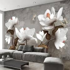 großhandel drop gewohnheit 3d fototapete blumentapete retro moderne wohnzimmer sofa fernsehhintergrundbild hauptdekor wand papel de parede