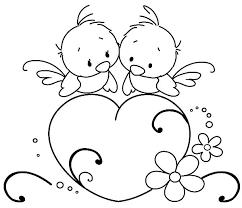 Birdies Adorable Love Birds Coloring Pages