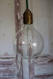large globe squirrel cage filament light bulb