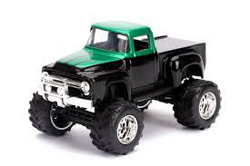 100 All Black Truck Just S Ford 1956 F100 Pickup In And Green 164 Scale Die