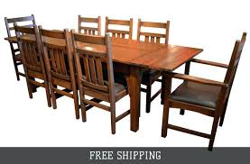 Oak Dining Chairs Mission Table With 2 Leaves And 8 Room For Sale Gumtree