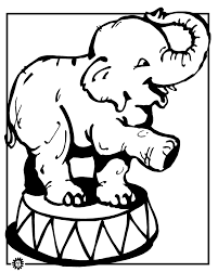 Elephant Coloring Page Animals Town Color Sheet