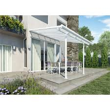 Palram Patio Cover Grey by Palram Sierra White U0026 Clear Patio Cover 3x3 05ft At Homebase Co Uk