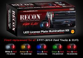 recon ford license plate illumination kit road bumpers shop