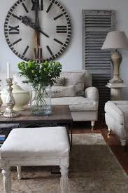 27 Cool Farmhouse Living Room Designs Appealing With Big Wall Clock Decor