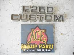 100 1977 Ford Truck Parts F250 Custom Emblem For Sale Online EBay