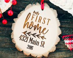 Our First Home Ornament Rustic By WeddingBannerLove