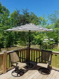 Patio Umbrellas Walmart Usa by Better Homes U0026 Gardens 9 U0027 Market Umbrella Cabana Stripe Walmart Com