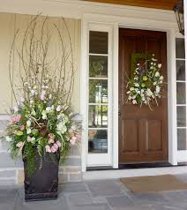 Heres A Great Idea For Spring Urn Arrangement With Custom Matching Wreath All Designed