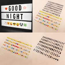 Letter Number Emoji Pack Set For Cinematic Plaque A4 A5 Light Up Box