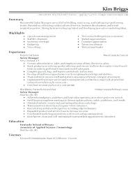 Planet Fitness Manager Resume Store Experience Resumes Sample Club