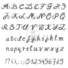Fancy Capital Letters In Cursive