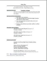 Veterinarian Sample Resume Veterinary Assistant Examples To Vet Tech