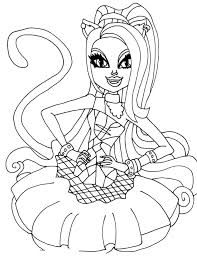 Monster High Catty Noir Coloring Pages