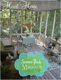Inexpensive Screened In Porch Decorating Ideas by Screen Porch Makeover All Things Heart And Home