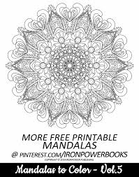 FREE Advanced And Detailed Mandala Coloring Page From Mandalas To Color Volume 2 Paperback Copy Ay