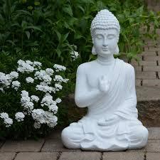 buddha figur statue weiß 54cm dekoration wohnung buddha