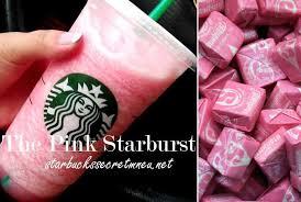 Starbucks The Pink Starburst Frappuccino