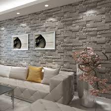 3d ziegel wand stein tapete moderne vintage wohnzimmer tv sofa hintergrund wand abdeckt grau ziegel wand papiere papel de parede