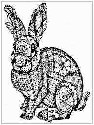 Free Adult Coloring Pages To Print Inside Rabbit