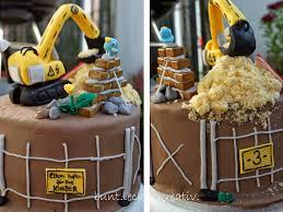 bunt lecker kreativ bagger baustellen torte