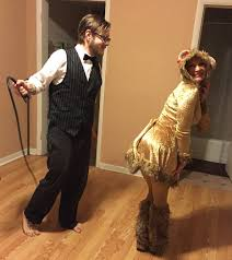 Purge Halloween Mask Couple by Lioness And Lion Tamer Couples Halloween Costume So Cute And Easy