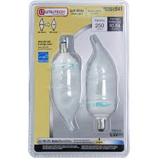 shop utilitech 2 pack 7 watt 40w candelabra base soft white