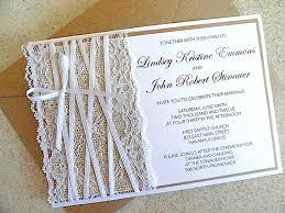Rustic Lace Wedding Invitations Burlap