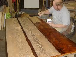 reclaimed wood desk top diy