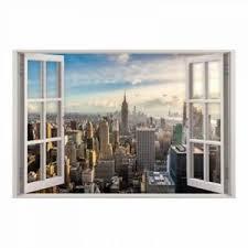 details zu 159 wandtattoo fenster new york wandbild wohnzimmer esszimmer skyline deko