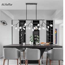 moderne led neue kreative anhänger lichter firfly schwarz gold rechteck anhänger le für esszimmer küche pendant lights aliexpress