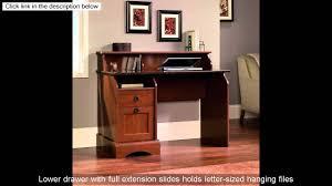 Sauder Camden County Computer Desk by Sauder Graham Hill Desk Autum Maple Finish Youtube