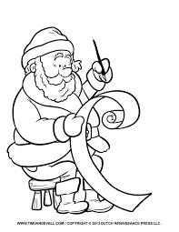 Santa Clip Art Coloring Page