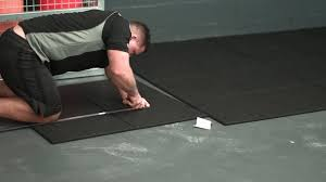 how to install versafit commercial rubber flooring tiles