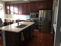 Kitchen Color Ideas With Cherry Cabinets Should I Paint My Cherry Cabinets D Franco Painting