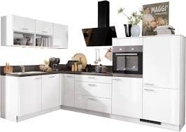express küchen winkelküche scafa ohne e geräte vormontiert mit vollauszü und soft funktion stellbreite 305 x 185 cm